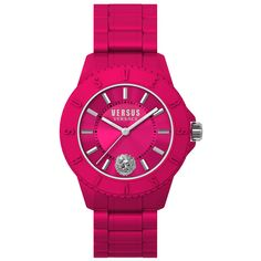 Women's Versus by Versace Versus Tokyo Watch (999.165 IDR) ❤ liked on Polyvore featuring jewelry, watches, jewelry & watches, pink, women's watches, versus watches, water resistant watches, swiss quartz watches, pink watches and pink jewelry