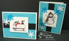 Dar's Crafty Creations: Christmas Cards with the Girl Scouts
