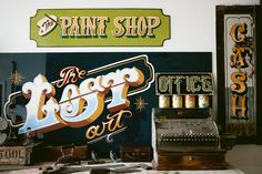 Traditional HAND PAINTED Vintage style signs and art.
