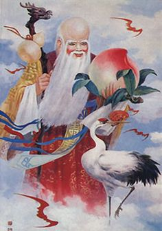 The Peaches of Immortality, Queen Mother of the West, Xi Wangmu, Saint Shou (Longevity)