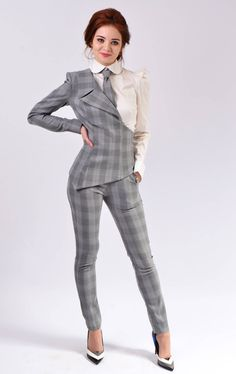 Items similar to Tabitha suit ( Tight trousers) on Etsy Funky Outfits, Office Outfits, Chic Outfits, Fashion Outfits, Work Outfits, Fashion Clothes, Suit Fashion, Work Fashion, Gothic Fashion