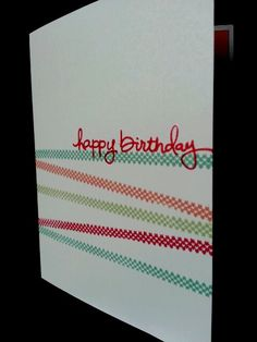 Holiday Cheer and Endless Birthday Wishes One Layer Card