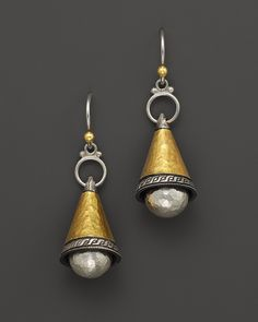TRUNK SHOW Gurhan Sterling Silver and 24K Gold Lancelot Earrings | Bloomingdale's