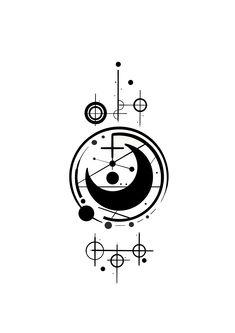 Neosymbolism design by neiz. Tatoo Art, Body Art Tattoos, Tattoo Drawings, Hand Tattoos, Small Tattoos, Cool Tattoos, Geometric Tattoo Design, Geometric Designs, Magic Symbols