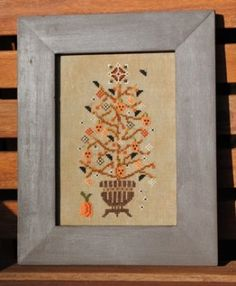 Rustic Halloween Tree is the title of this cross stitch pattern from Turquoise Graphics and Design - I love this one!
