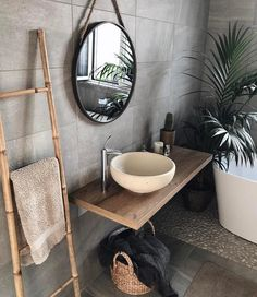 gorgeous 36 Fabulous Natural Bathroom Design Ideas That You Need To Try Best Bathroom Designs, Bathroom Interior Design, Interior Design Living Room, Bathroom Ideas, Bathroom Organization, Bathroom Shelves, Bathroom Colors, Dyi Bathroom Remodel, Zen Bathroom Decor