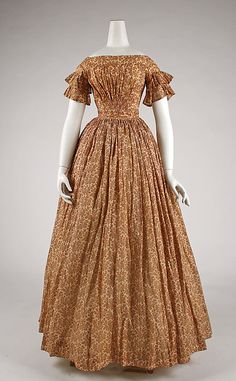 Dress 1847, American, Made of cotton