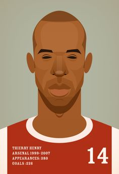 Celebrity Caricatures - Thierry Henry