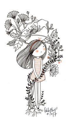 doll flowers, Cécile Hudrisier