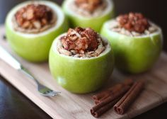 Apple Pie… in an Apple! Make one for each guest at your dinner table and show them how fruit-ful this recipe can be!