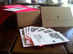 i die over these letterpress business cards and even the package in which they arrived - printed by themandatepress.com