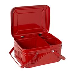 Fire engine red conran shop picnic hamper