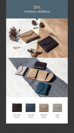 좋은 가죽으로 만든 수납력 좋은 중지갑,  레이크의 Envelope Leather Wallet 을 25% 할인된 가격에 만나보세요.
