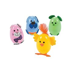 Animal Egg Decorating Craft Kit OrientalTrading Plastic Easter