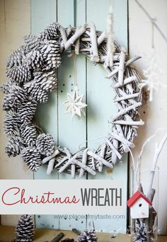 DIY Twig and Pinecone Wreath
