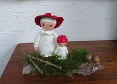 Herbstling Fliegenpilz und Kind - Häkelanleitung von Piddys Workshop auf DaWanda.com
