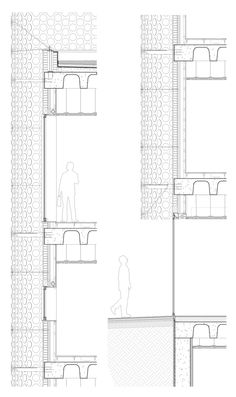 Image 60 of 60 from gallery of Central Office of FEDA Confederation of Employers of Albacete / Cor & Asociados. Architecture Collage, Architecture Details, Construction Drawings, Detailed Drawings, Technical Drawing, Floor Plans, Exterior, How To Plan, Gallery