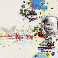 Page made by Conny using Stitched Up #01 | Templates by Akizo Designs (Digital Scrapbooking layout)