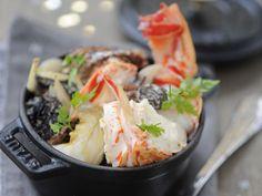 Cocotte de langouste aux morilles, facile : recette sur Cuisine Actuelle
