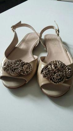 Sandale aus Lack