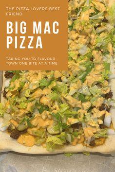 Cooking Hacks, Cooking Recipes, Healthy Recipes, Beef Casserole Recipes, Pizza Recipes, Harvest Pizza, Big Mac Pizza, Homemade Big Mac, Minced Beef Recipes