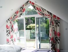Curtains For Triangular Windows Fantastic Inspirational