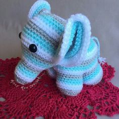 So beautiful great job. Credit : @missymoocrochet -  A sweet little elephant all ready for his new home  . #elephant #elephants #elephantlove