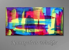 Acrylmalerei - UNIKAT 100 x 50 Gemälde Abstrakt Acrylbilder NEU - ein Designerstück von A-Winkler bei DaWanda  http://de.dawanda.com/shop/A-Winkler