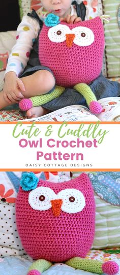 You're going to love this owl toy crochet pattern. Use this easy owl amigurumi to whip up a cuddle buddy for the little ones in your life. This easy crochet owl pattern is the perfect addition to your collection of crochet patterns for beginners.   #amigurumicrochetpattern #crochetpatternfree #owltoycrochetpattern #owlcrochetpattern #easycrochetpattern #beginnercrochetpatterns Owl Crochet Patterns, Owl Patterns, Crochet Patterns For Beginners, Crochet Ideas, Pattern Design, Free Pattern, Needle Felted Owl, Create And Craft, Cottage Design