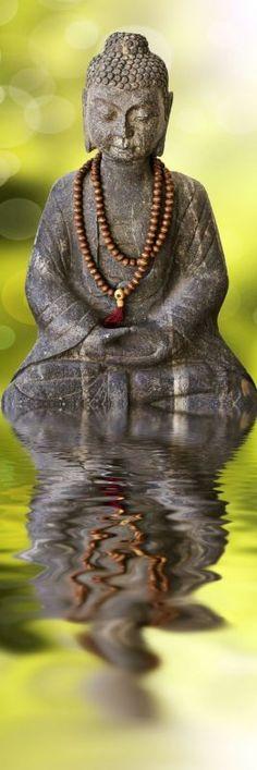 Tableau Zen Bouddha assis par Delphimages