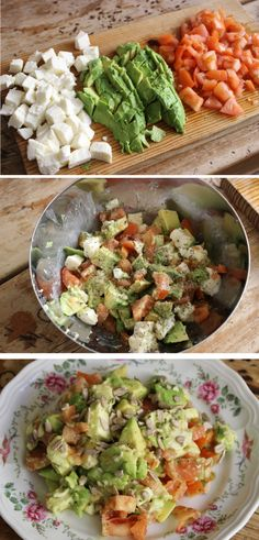 Ensalada MAT (Mozzarella+Aguacate+Tomate) -  MAT salad (Mozzarella+Avocato+Tomato) ;)