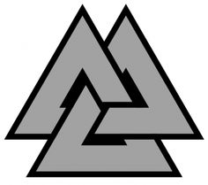 Valknut: A Norse Symbol of the Vikings. An ancient Norse symbol associated with the god Odin. This symbol encompasses being a wise warrior and living without fear of death. I'm gonna get this and make it less blocky, smaller linework Wiccan Symbols, Viking Symbols, Ancient Symbols, Viking Runes, Odin Symbol, Celtic Tattoos, Viking Tattoos, Symbol Tattoos, Tattoo Odin