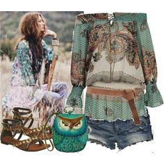 "gypsy - I absolutely adore this outfit!  Check out the ""owl"" purse.  This is one of the coolest outfits I've seen yet!"