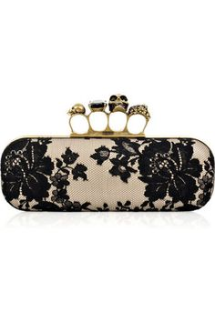 Alexander McQueen clutch - I like this, but I also think @Lindsey Grande Grande Jackson will like it, too!!!