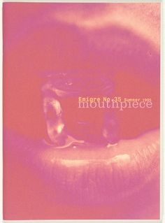 Emigre 35, Mouthpiece. 1995 by Emigre Inc., Rudy VanderLans, Zuzana Licko