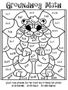 mosaic coloring pages for parts of speech | Forest Fun Multiplication Mosaics! 8 Pages of Fun! Color By Number ...