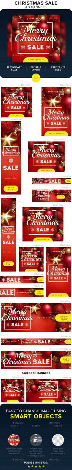 Christmas Sale Banners Template PSD