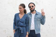 J'aime tout chez toi - French fashion couple - denim on denim