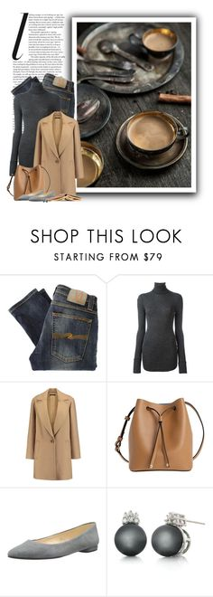 """""""Cafe Au Lait"""" by ameve ❤ liked on Polyvore featuring Nudie Jeans Co., Étoile Isabel Marant, Theory, Lodis, Nine West, Belk & Co., rustic, coffee and cafeaulait"""