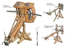 Image result for ballista blueprints Sling Bow, Wood Projects That Sell, Crossbow, Ancient Rome, War Machine, Dungeons And Dragons, Weapons, Medieval, Enemies