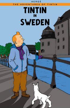 Tintin in Sweden Haddock Tintin, Comic Book Characters, Comic Books, Tin Tin Cartoon, Album Tintin, Herge Tintin, Indian Comics, Princess Art, Cartoon Sketches