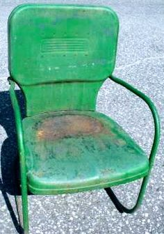 Mid Century Junior Toy Company Vintage Metal Lawn Chair. See History At  Www.midcenturymetalchairs.com