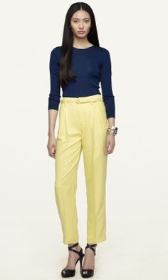 Jerolyn Silk Pant - Black Label  Pants & Shorts - RalphLauren.com
