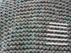 Measuring gauge in knitting: examples in various types of stitches
