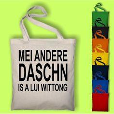 Mei andere Daschn is a LUI WITTONG - Baumwolltasche Jutebeutel Tasche E in Kleidung & Accessoires, Damentaschen Street Marketing, Cricut, Reusable Tote Bags, Mugs, Sewing, Funny, Gifts, Ebay, Freebies