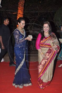 Love the blue sari