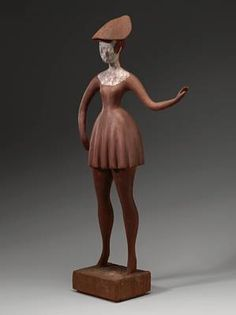 """Standing Girl"" by Elie Nadelman (1918-1922)"