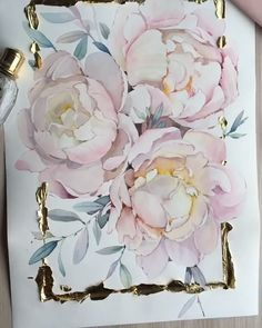 Every Watercolor Flower You'll Ever Need Peony Painting, Watercolor Painting Techniques, Watercolor Artists, Painting Tutorials, Watercolor Portraits, Watercolor Flowers Tutorial, Floral Watercolor, Watercolour, Watercolor Trees