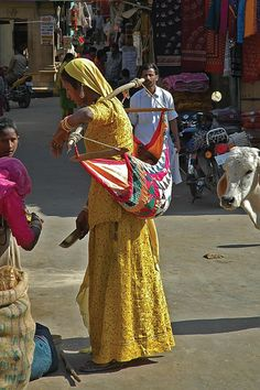 """Baby """"sling"""" in India"""