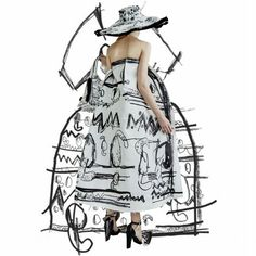Edda Gimnes created this collection using her own drawings which she digitally printed onto canvas in black and white. This creates a…